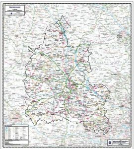 Oxfordshire County Wall Map